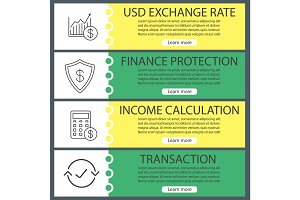 Economics web banner templates set