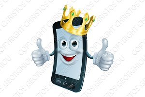 Phone man with crown