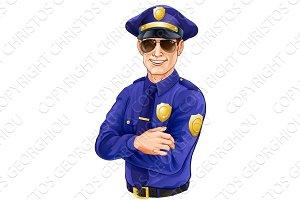 Sunglasses policeman