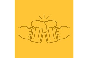 Cheers color linear icon