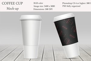 Coffee cup mockup. Product mockup.