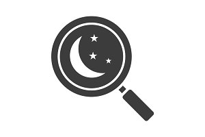 Place to sleep search glyph icon