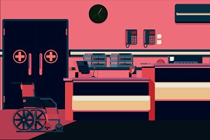 Hospital Reception Illustration