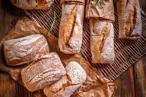Different fresh bread