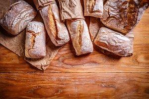 Fresh bread border