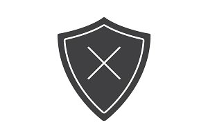 Security glyph icon