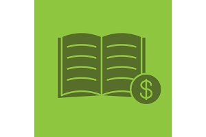 Buy book glyph color icon