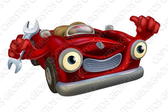 Car Mechanic Mascot
