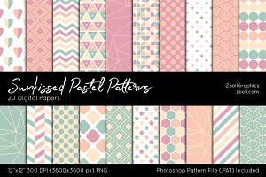 Sunkissed Pastel Digital Papers