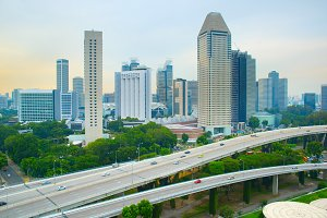 Skyline of modern metropolis