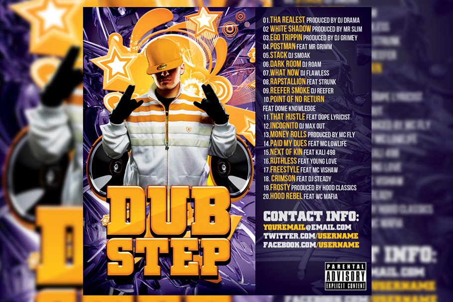Dubstep CD Cover Template in Templates
