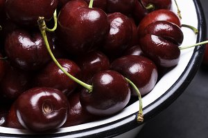 cherry in plate