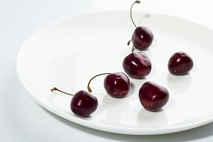 cherry on plate