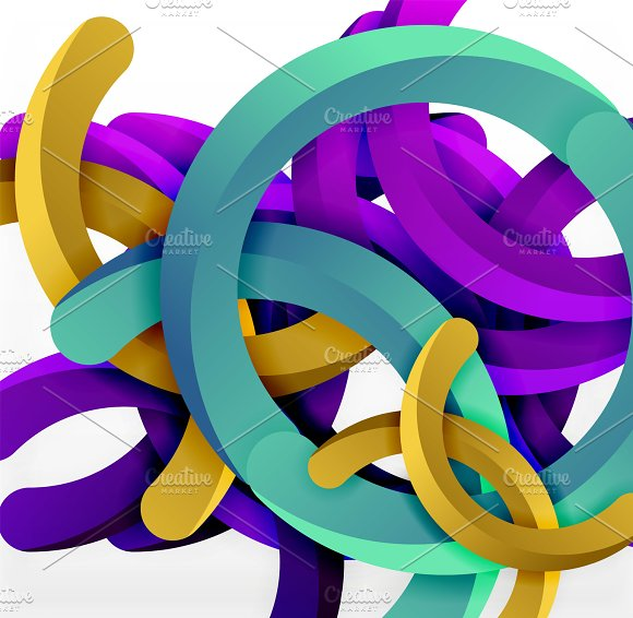 Modern 3D Geometrical Style Background Arch Circular Lines