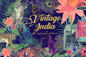 Vintage India 10 patterns (set 1)