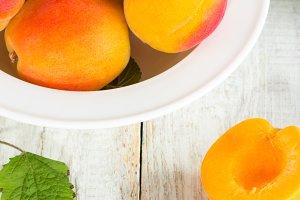 apricots close-up