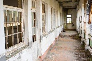 Abandonded hallway building