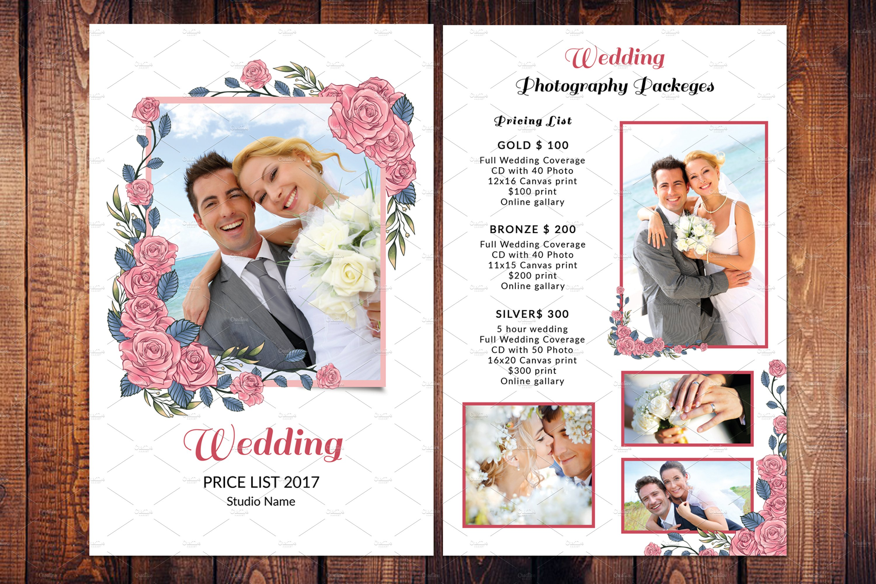 Wedding Photography Price List V587 Flyer Templates Creative Market