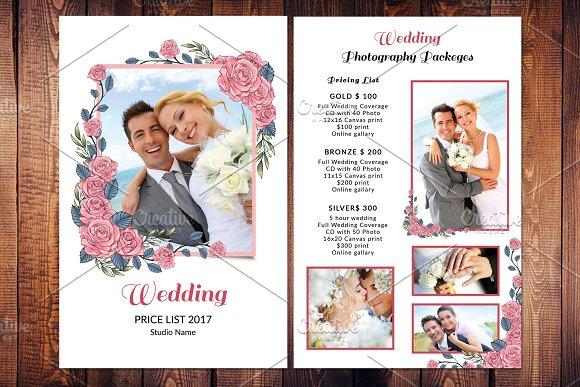 Wedding Photography Price List V587