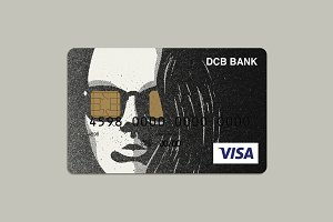 Woman Portrait Bank Card Design