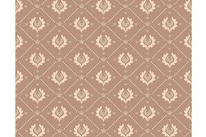 Damask Brown Wallpaper