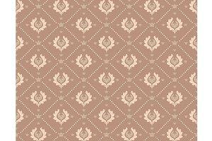 Damask Brown Wallpaper