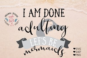 Lets Be Mermaids Cutting File