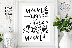 Wine Improves With Age Cutting File