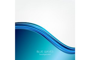 Blue waves business background