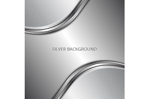 Silver technology background
