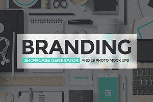 Branding Showcase Generator MockUp