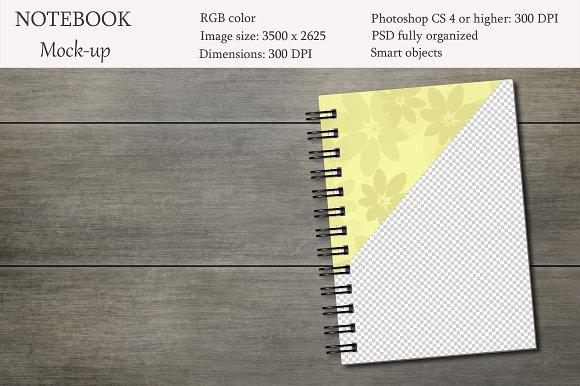 Notebook Mockup Sketchbook Mockup