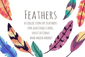 Feathers ClipArt Set