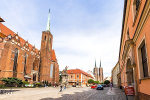 Wroclaw Poland - 28 June 2017: City panorama, sightseeing