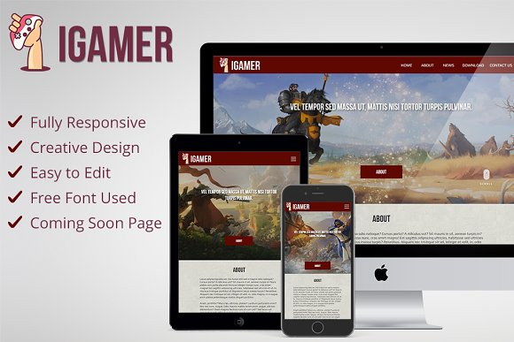 IGamer Gaming Website Muse Theme