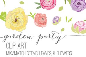 Garden Party - Flower Clip Art