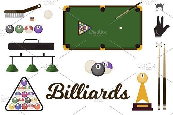 Billiard Snooker Equipmen Vector