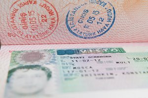 Shengen visa on Russian passport, travel id