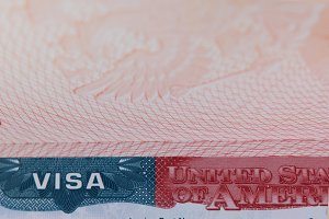 American visa on travel document - ID passport