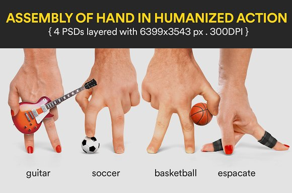 Assembly Of Hand In Humanized Action