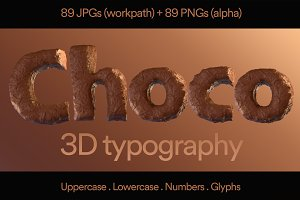 Pack Choco 3D Typography