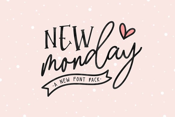 New Monday Font Pack