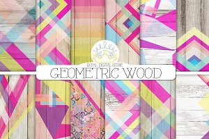 GEOMETRIC WOOD digital textures