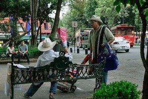 mexican vendors at a park