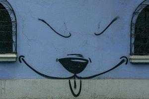 minimal dog graffiti