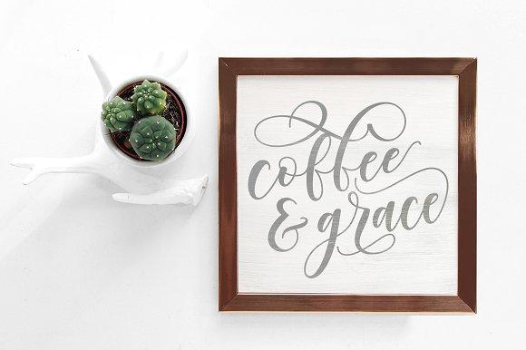 Coffee Grace SVG DXF Printable