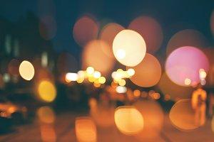 Blurred night city scene