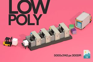 3D illustration Graphic LowPoly