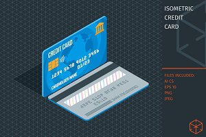 Isometric credit card