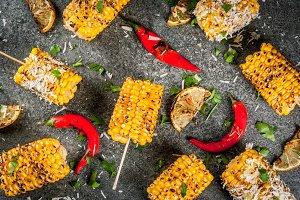 Grilled bbq corn